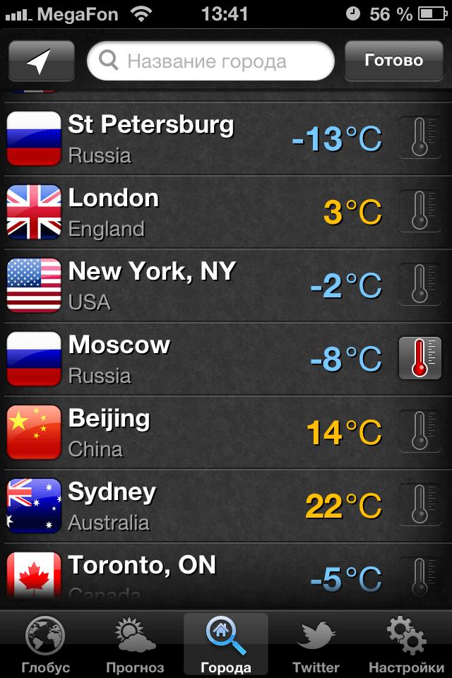 Мобильное приложение погода сейчас