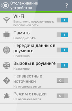Приложение ESET NOD32 Mobile Security для Android